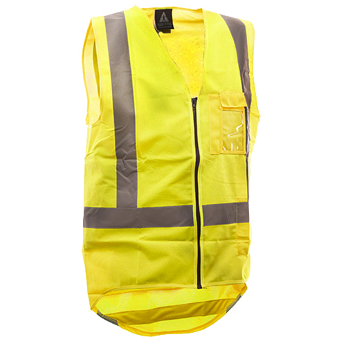 Hi-Viz Day/Night Zipped Safety Vest Yellow