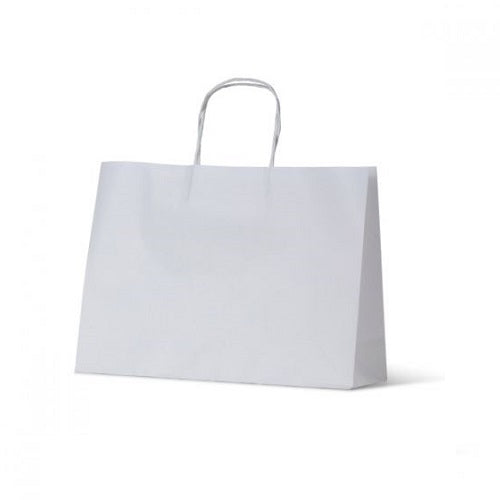 White Paper Carry Bags (350 x 110 x 250mm)