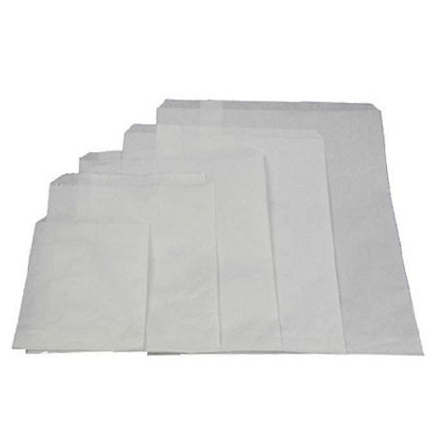 Flat White Greaseproof Bags