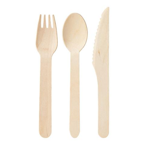 Wooden Pine Cutlery