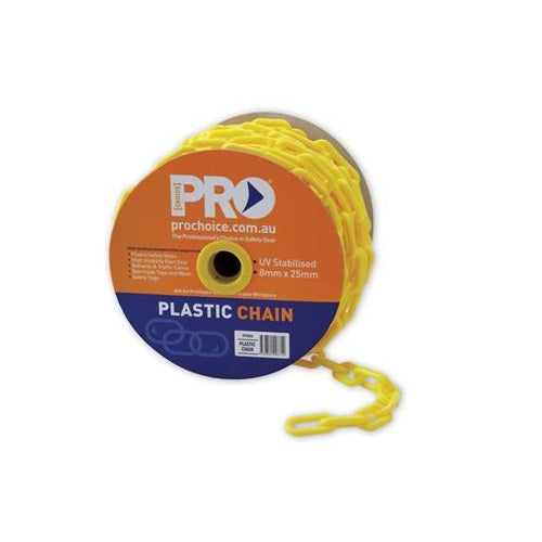 Yellow Plastic 8mm Safety Chain