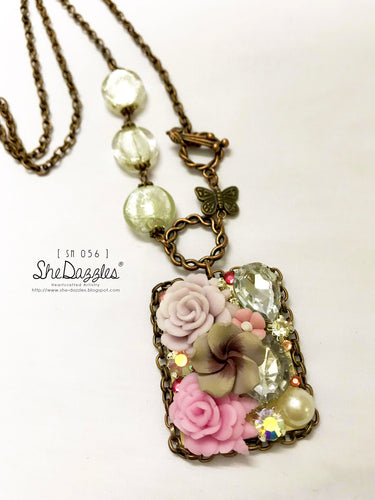 Pink Blooms Necklace (SN 056) - Momma's Favorites
