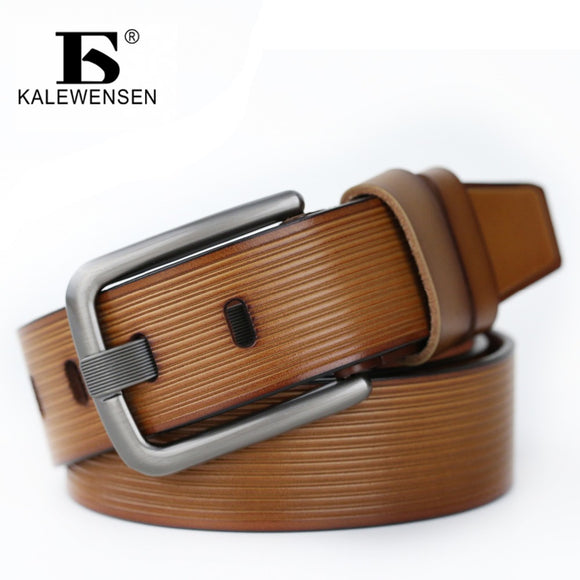 13dbd964e38 2017 Brand Luxury 100% Genuine Leather Belt for Men 4.0cm mens black belt  unique