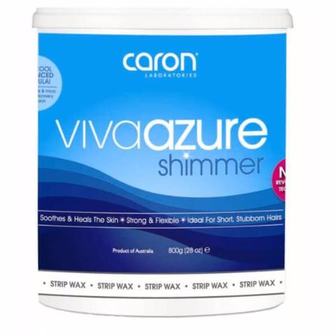 Viva Azure Shimmer Strip Clear Wax 800g (Box of 12)