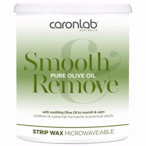 Pure Olive Oil Strip Wax - Microwaveable 800ml ( Qty of 24)