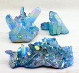 Aqua Aura Quartz Cluster Meaning Creation
