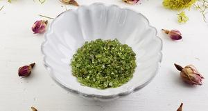 Peridot Chips in a Bowl