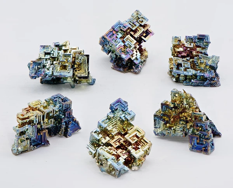 Collection of Bismuth Crystals