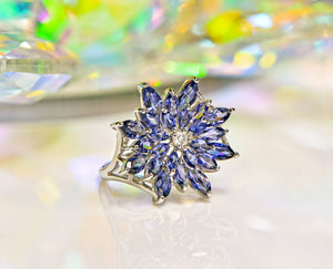 10k White Gold Tanzanite Gemstone Ring