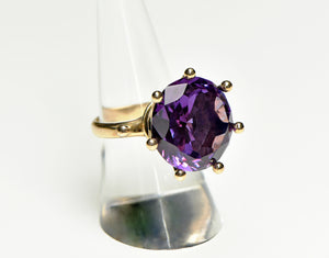 14k Yellow Gold & Alexandrite Gemstone Ring