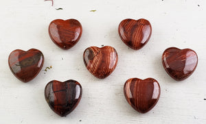 Snakeskin Jasper 30Mm Gemstone Heart Carvings