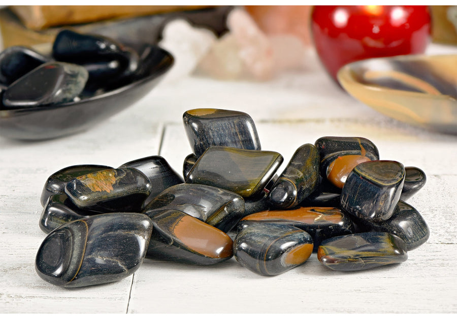 Blue Multi Tiger Eye Hawkeye Polished Tumbled Gemstone