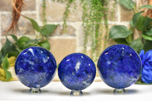 Blueberry Quartz Polished Gemstone Sphere Orb 100-140mm