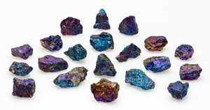 Peacock Ore Chalcopyrite Natural Gemstone Mini Stones