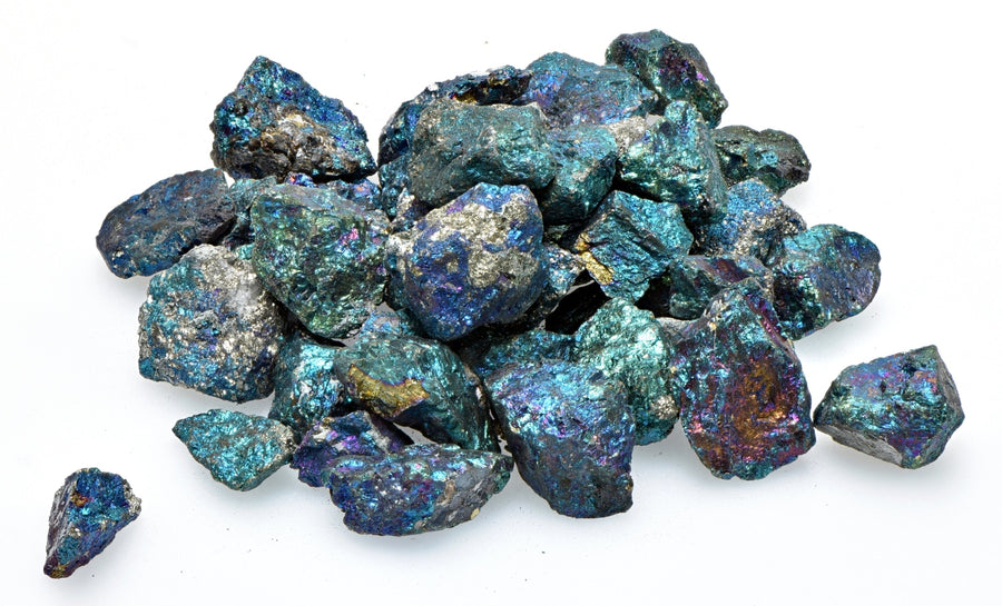 Peacock Ore Chalcopyrite Natural Gemstone Nugget Mini Stones