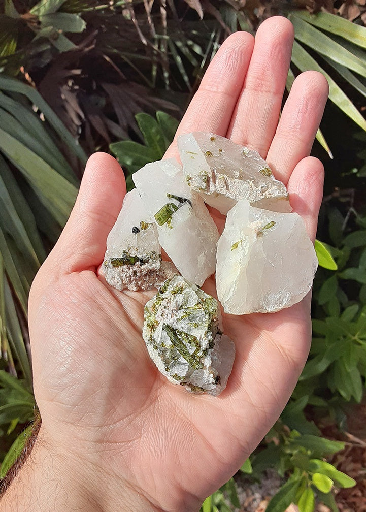 Tourmaline in Quartz Natural Raw Gemstone