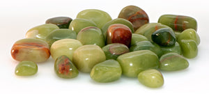 Green Aragonite Polished Tumbled Gemstones