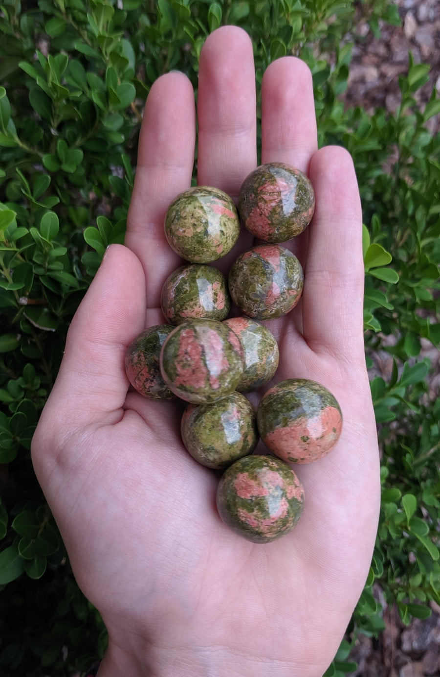 Unakite Polished 20Mm Gemstone Orb Sphere Marble Spheres & Orbs