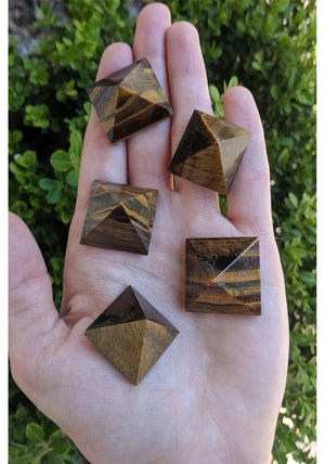 Tiger Eye Mini Gemstone Pyramid