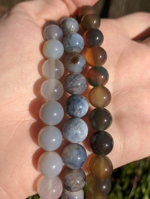 Agate Gemstone Polished Bead Strands - 12 Color Selections!