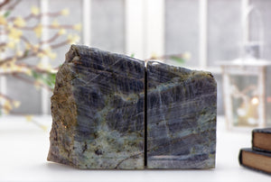 Labradorite Gemstone Bookends Carvings