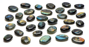 Labradorite Gemstone Palm Stone - Extra Flashy!