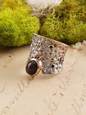 Sterling Silver & Diopside Gemstone Ring - Luna Light Jewelry