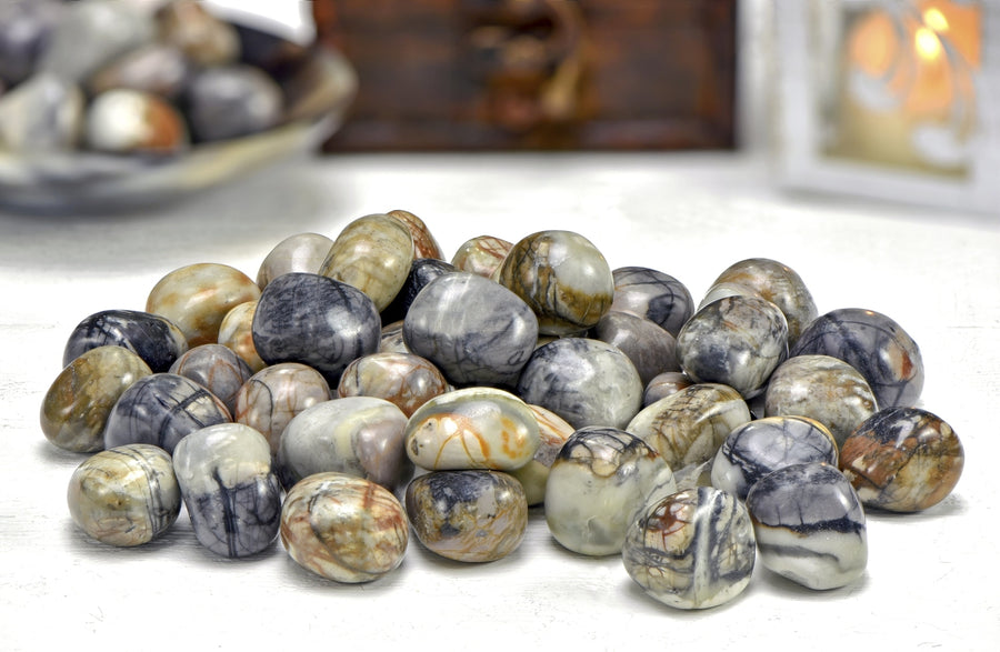 Picasso Jasper Tumbled Polished Gemstone Gemstones