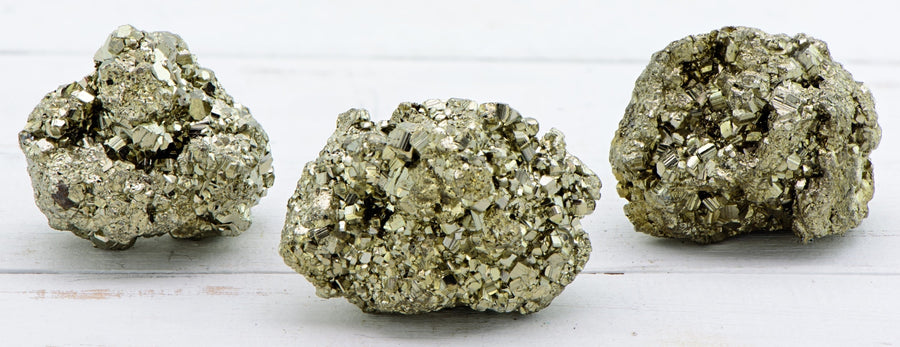 Pyrite Natural Gemstone Cluster Raw & Rough Gemstones