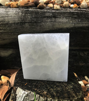 Selenite Square - Stone Of Support And Guidance Gemstone Carvings