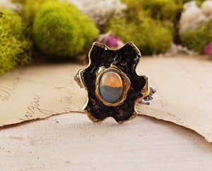 Sterling Silver & Opal Gemstone Ring - Sun Splash Jewelry