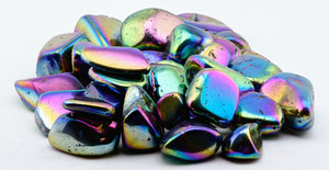Titanium Rainbow Quartz Polished Tumbled Gemstone Gemstones