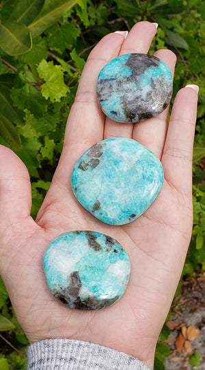 Amazonite Gemstone Meditation Palm Stone