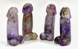 Amethyst Polished Phallus - Small Gemstone Carvings