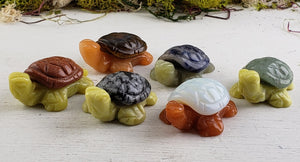 Gemstone Turtle Animal Totem Carvings