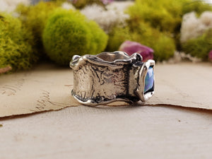 Sterling Silver & Opal Ring Gemstone Jewelry