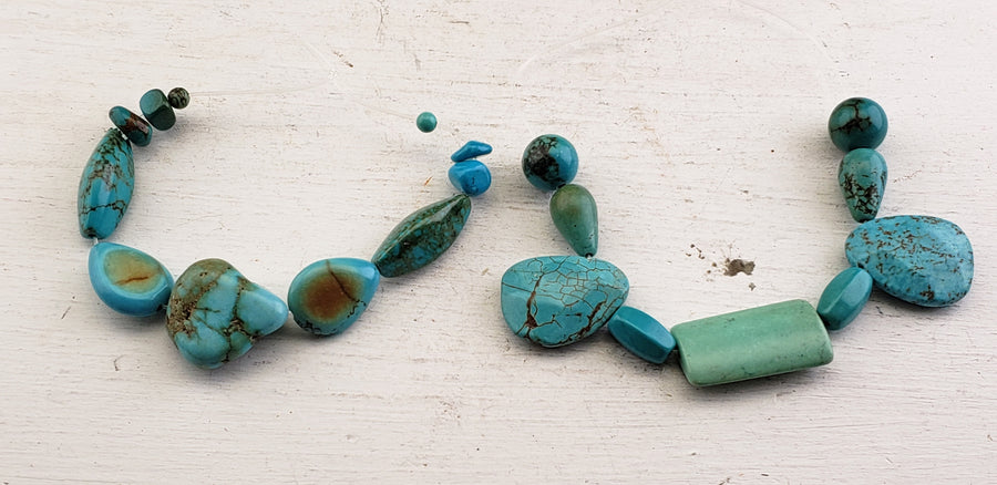 Blue Magnesite Polished Gemstone Bead Strands
