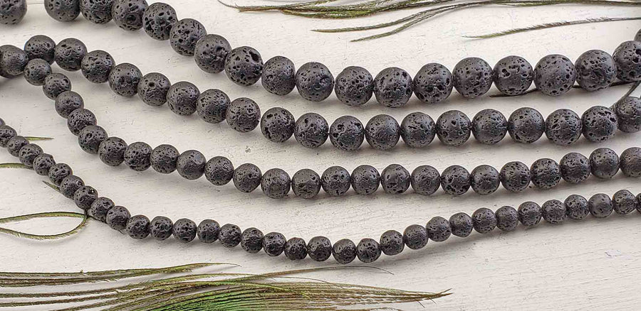Lava Rock Gemstone Bead Strand