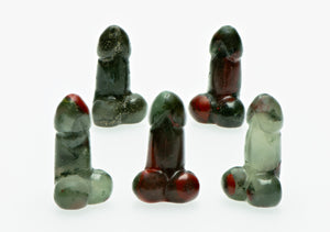 Bloodstone Polished Phallus - Small Gemstone Carvings