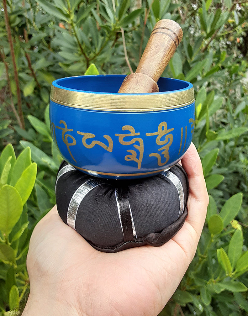 Blue Tibetan Singing Bowl 3""