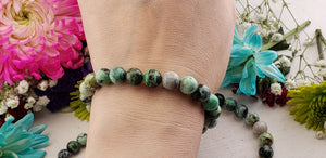 Variscite Natural 8mm Gemstone Bracelet