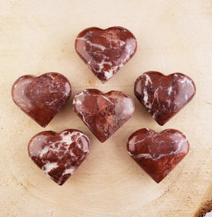 Brecciated Jasper Gemstone Heart Carving Carvings