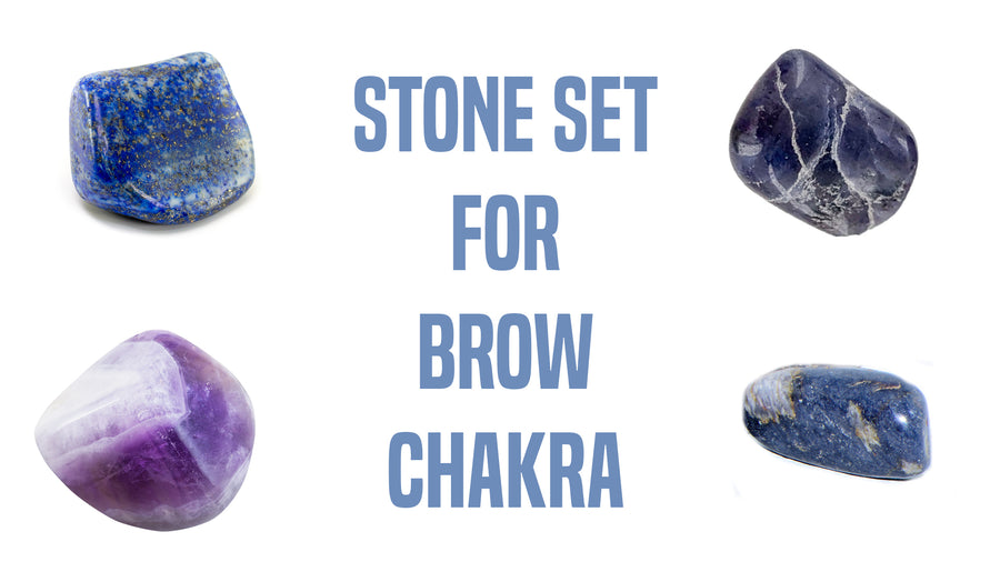 Chakra Set for Third Eye Chakra Gemstone Pocket Stone Set