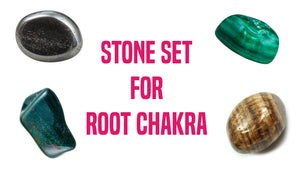 Chakra Set for Root Chakra Gemstone Pocket Stone Set