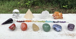 11 Pcs Chakra Set Mineral Collection Healing Crystals And Stones Tumbled Gemstones