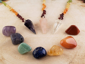 12 Piece Chakra Set Mineral Collection Healing Crystals And Stones Tumbled Gemstones