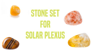 Chakra Set for Solar Plexus Gemstone Pocket Stone Set