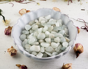 Aquamarine Gemstone Chips- 1 Oz. Bag Tumbled Gemstones
