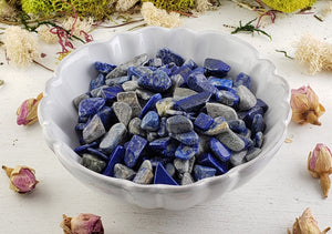 Lapis Lazuli Gemstone Chips- 1 Oz. Bag Tumbled Gemstones