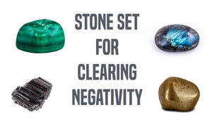 Clearing Negativity Gemstone Pocket Stone Set